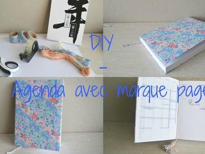 Back To School - DIY agenda + marque page
