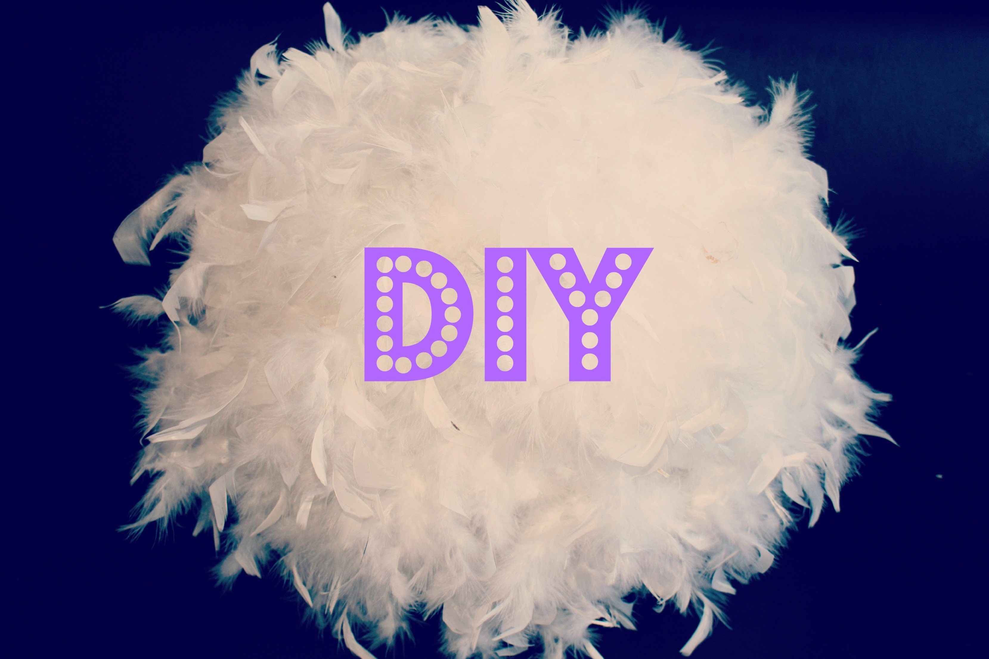DIY. tuto : fabriquer son abat jour plume idée cadeau de noel