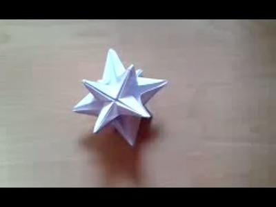 Faire une etoile d'omega en papier - Étoile d'oméga en origami - Pliage impressionnant