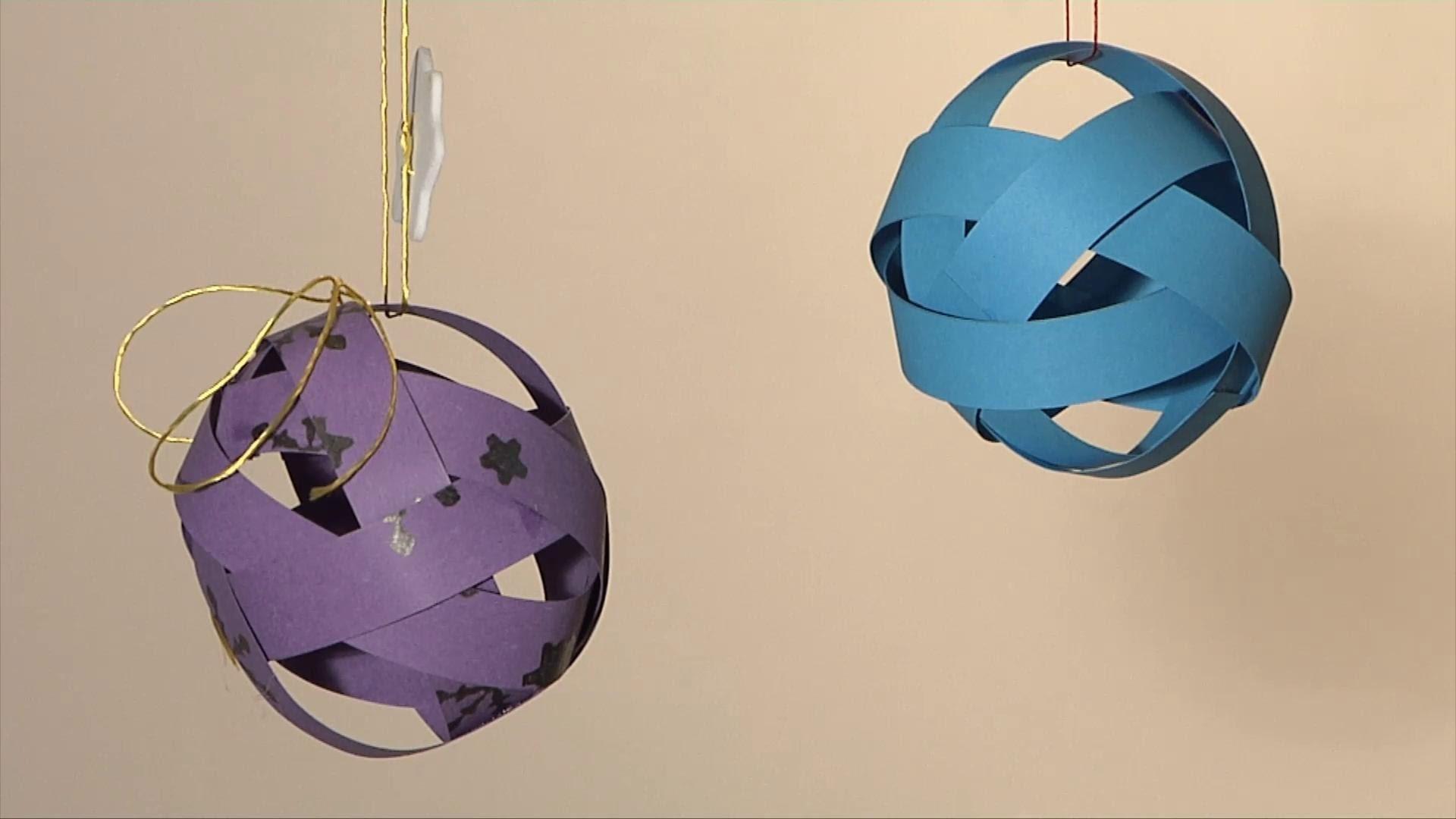 Noel déco !! Christmas decoration !! boule entrelacée diy