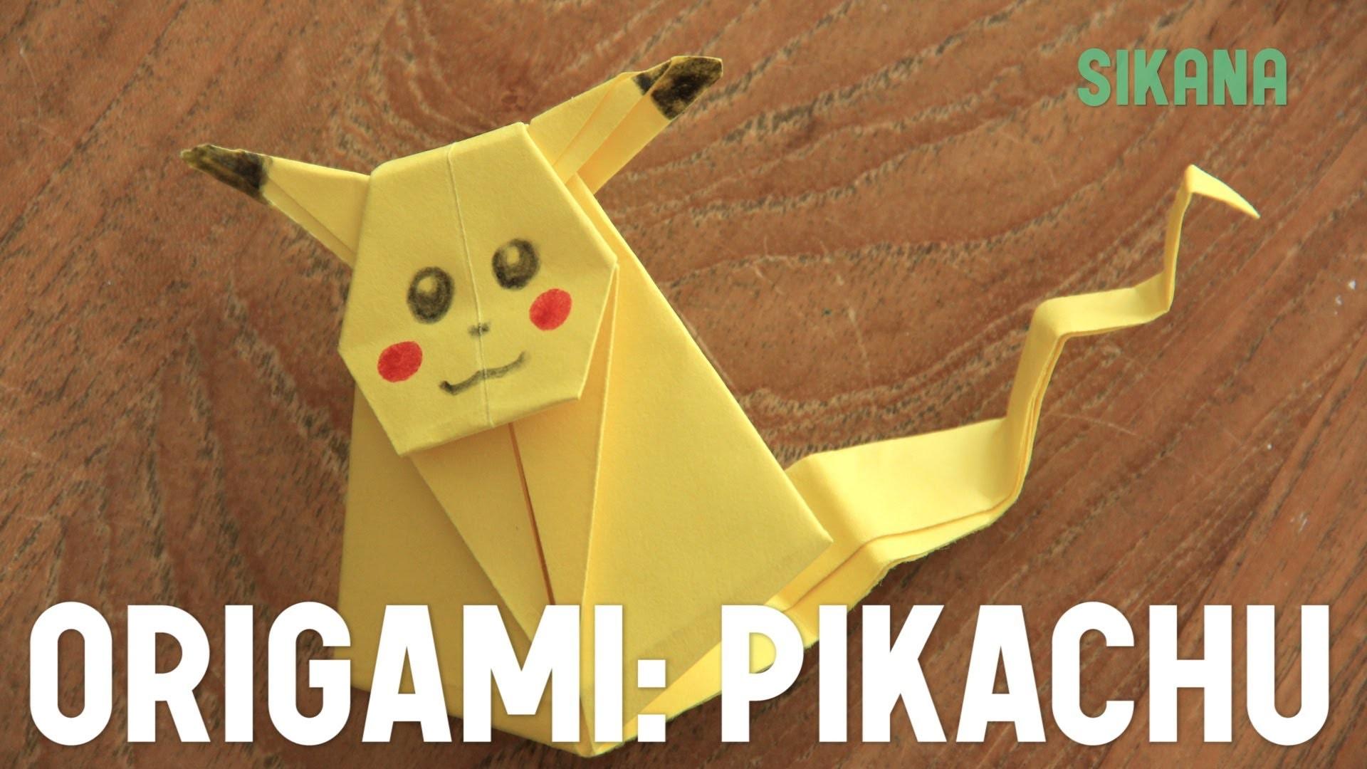 Origami : Faire un Pikachu en papier - HD