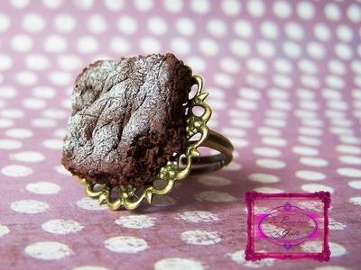 Tuto Fimo : Brownie facile - Easy polymer Brownie tutorial