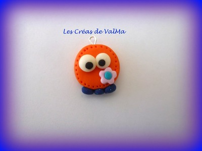 Tuto Fimo petit bonhomme orange.Polymer clay Tutorial