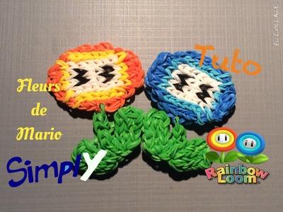 {Tuto} Fleurs de Mario en élastiques Rainbow Loom | Simply