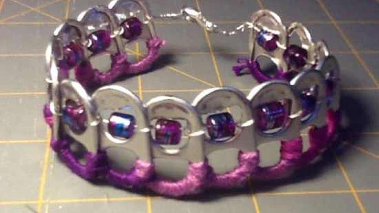 Créez votre bracelet à partir de capsules de canettes - DIY Mode - Guidecentral