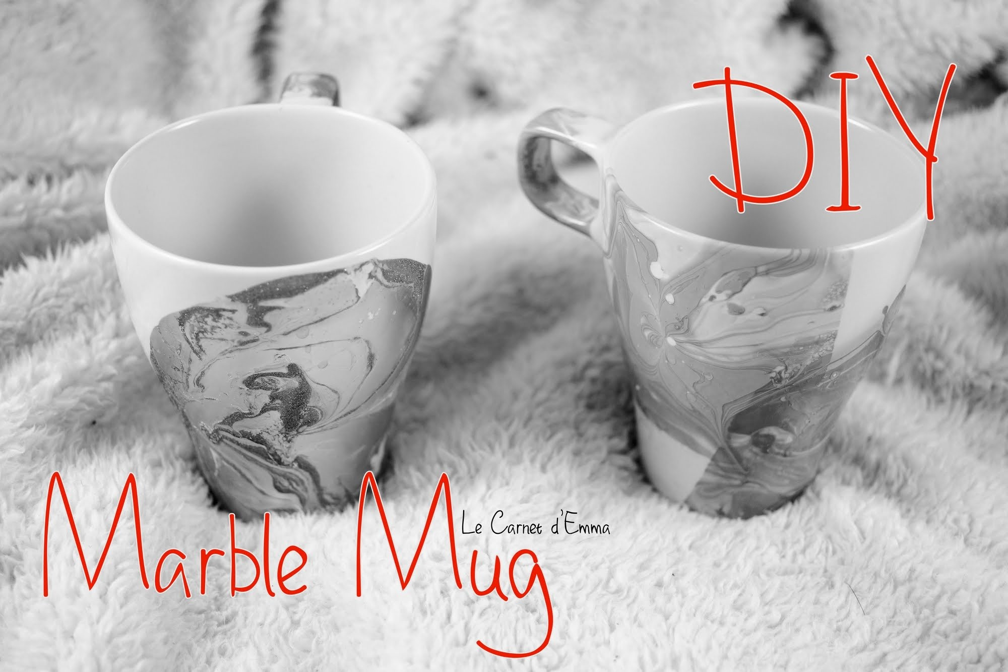 { DIY } Marble Mug