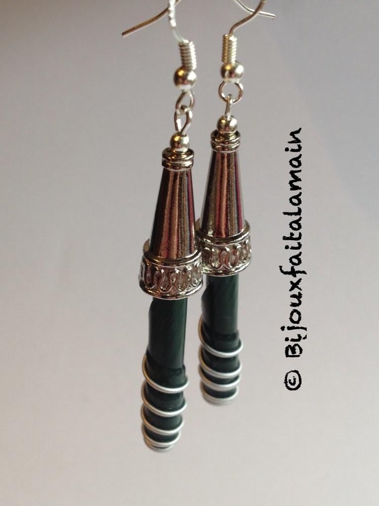 DIY Nespresso: Boucle d'oreilles Nespresso- Nespresso earrings