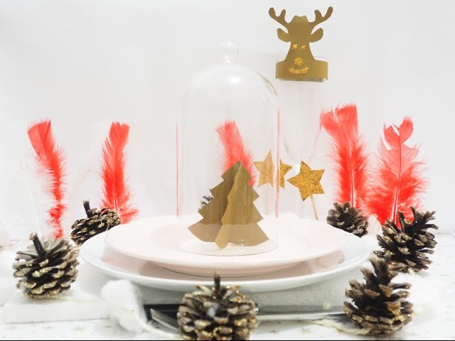 DIY Noël et Jour de l'An : Décorations de table peu coûteuses !