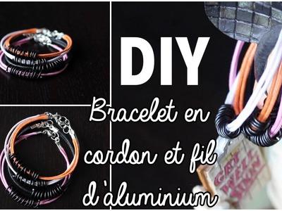 DIY # TUTO Bracelet en cordon et fil d'aluminium