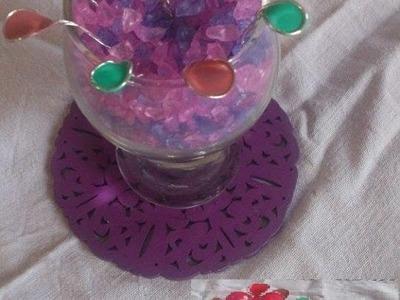 DIY wire nail polish flowers