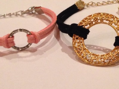 Fabriquez votre bracelet en daim avec charm - DIY Mode - Guidecentral