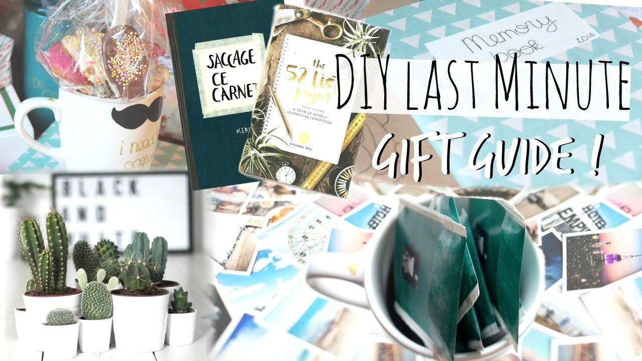 LAST MINUTE GIFT GUIDE | Idées & DIY !