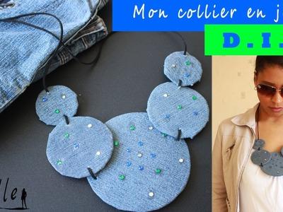 D.I.Y :  Mon collier en jean