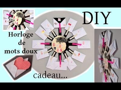 [DIY] : l'horloge de mot doux.  ♥