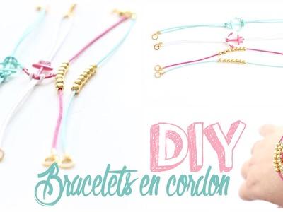 DIY # TUTO Bracelets en cordon - Stackable bracelets