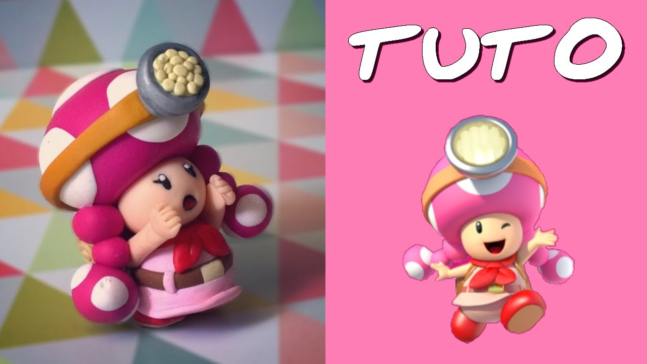 TUTO FIMO | Toadette l'aventurière (de Mario)
