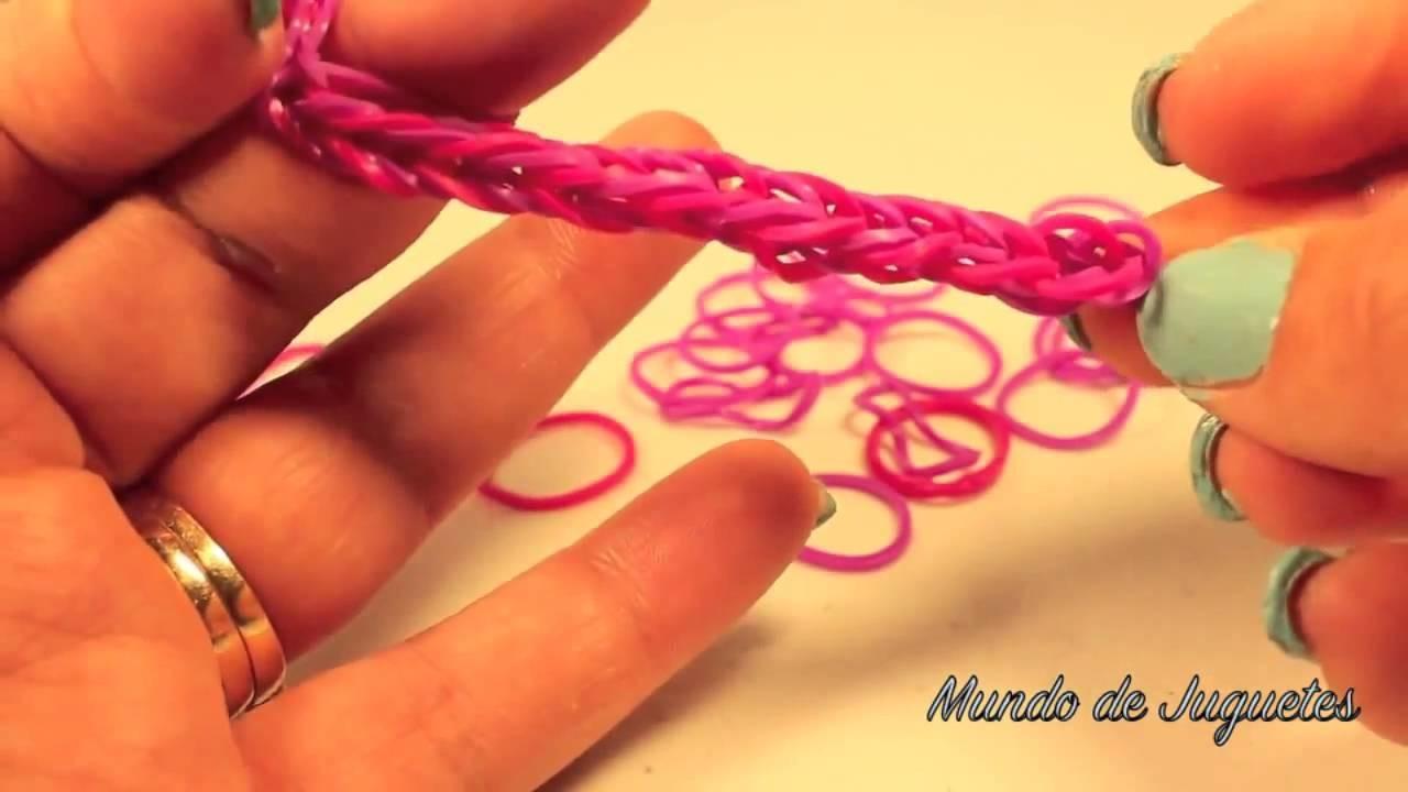 Como Hacer Pulseras De Ligas Gomitas Loom Bands DIY Con los Dedos Mundo de juguetes