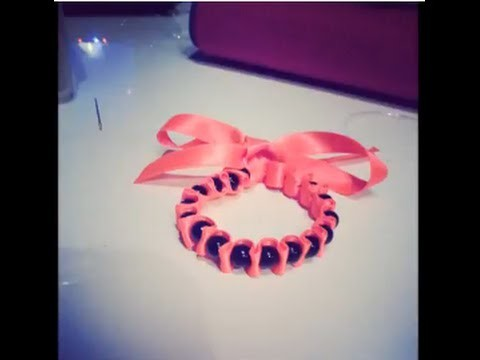 Création DIY Le bracelet ruban et perles comment faire tuto youtube original HQ 2014