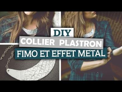 DIY Bijoux. Créer un collier plastron métallisé en pâte fimo