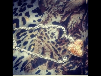 DIY :Collier coeur d'or d'automne. Autumn heart of gold