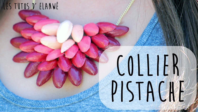 DIY Collier pistache !
