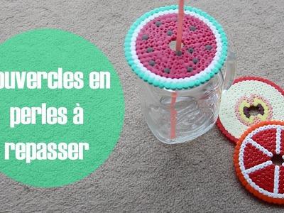 DIY: Couvercles.dessous de verre en perles à repasser.