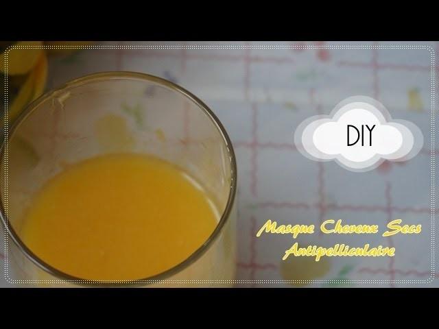 DIY masque pour cheveux secs et antipelliculaire