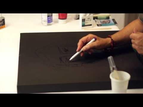DIY Mixed Media : Jeu de brillance sur gesso noir