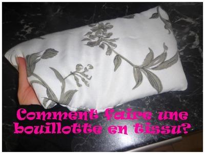 DIY une bouillotte en tissu