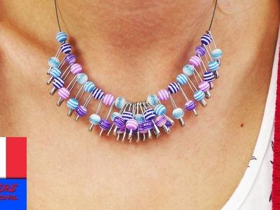 Faire soi-même son collier en perles. Collier DIY. Bijou à faire à la maison