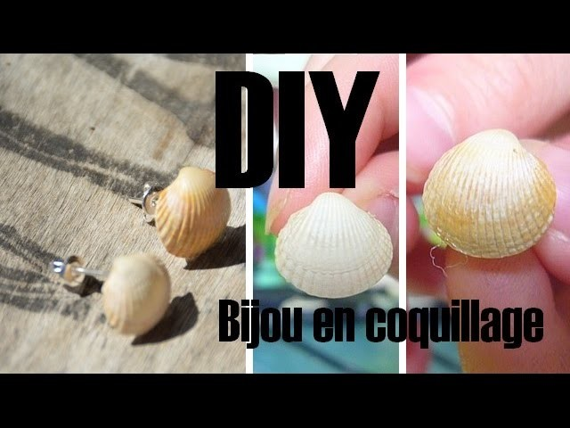 [DIY] Boucles d'oreille en coquillage. Summer DIY