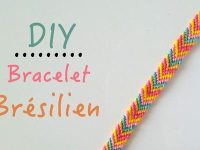DIY Comment faire un bracelet brésilien motif : Chevrons