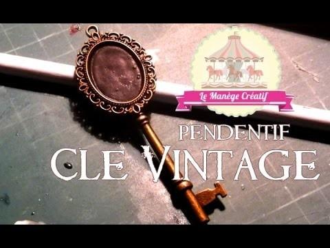DIY l Pendentif Clé Ardoise Vintage avec Le Manège Créatif