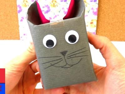 Emballage cadeau en forme de chat. DIY pour cadeau. Pour les amoureux des chats