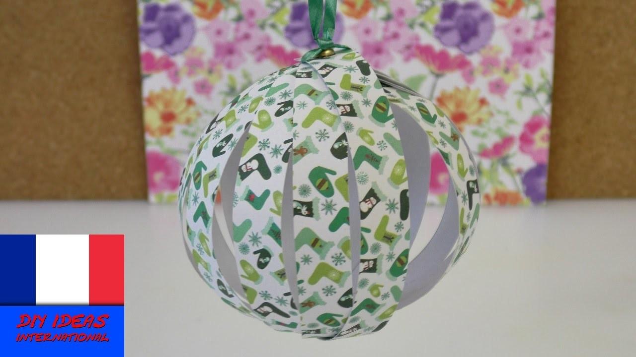 Boule de Noël. DIY boule en papier pour décorer le sapin. Pour les fêtes de fin d'année