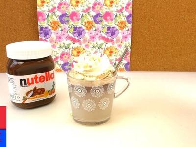 Chocolat chaud au Nutella. Cuisiner soi-même. DIY pour l'hiver