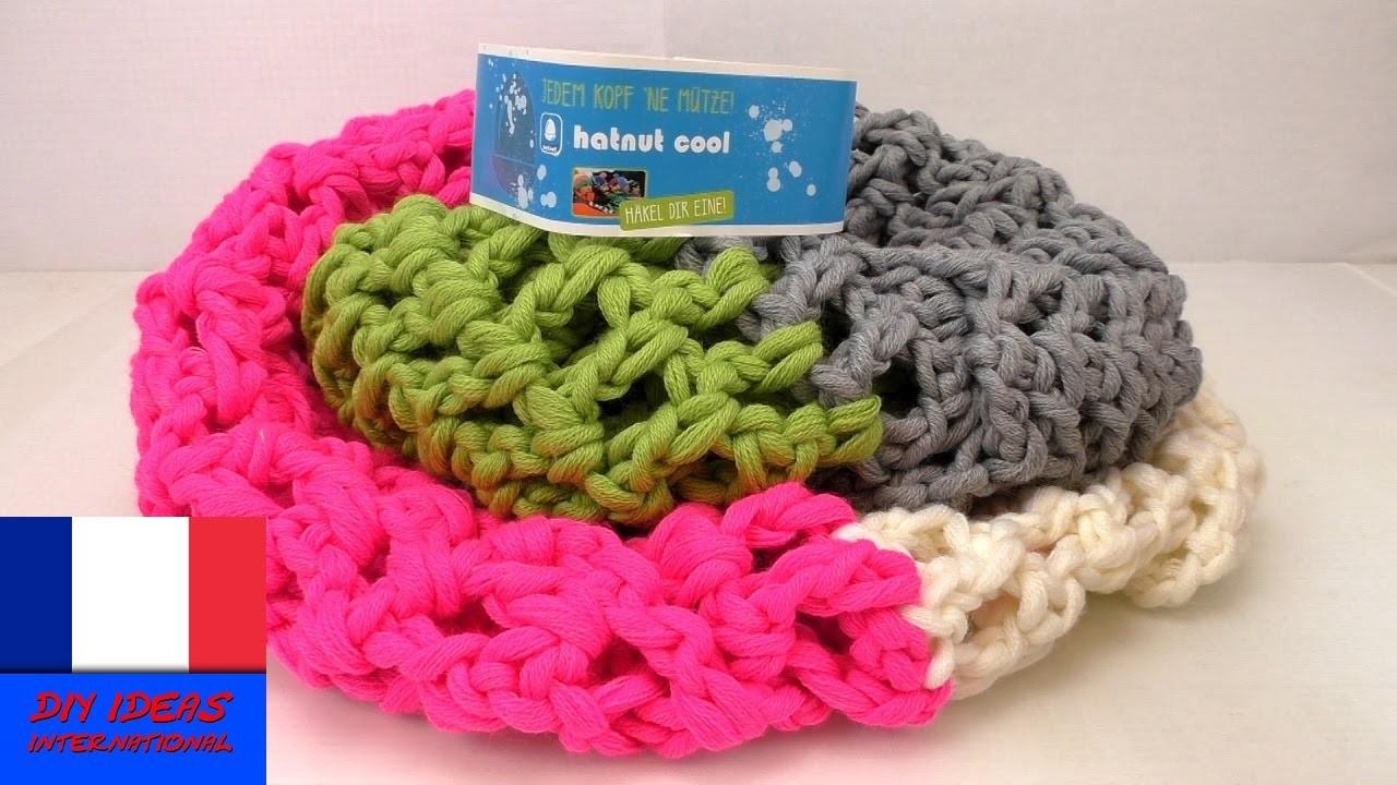 Crocheter une écharpe avec 4 couleurs. Echarpe multicolore en laine. DIY