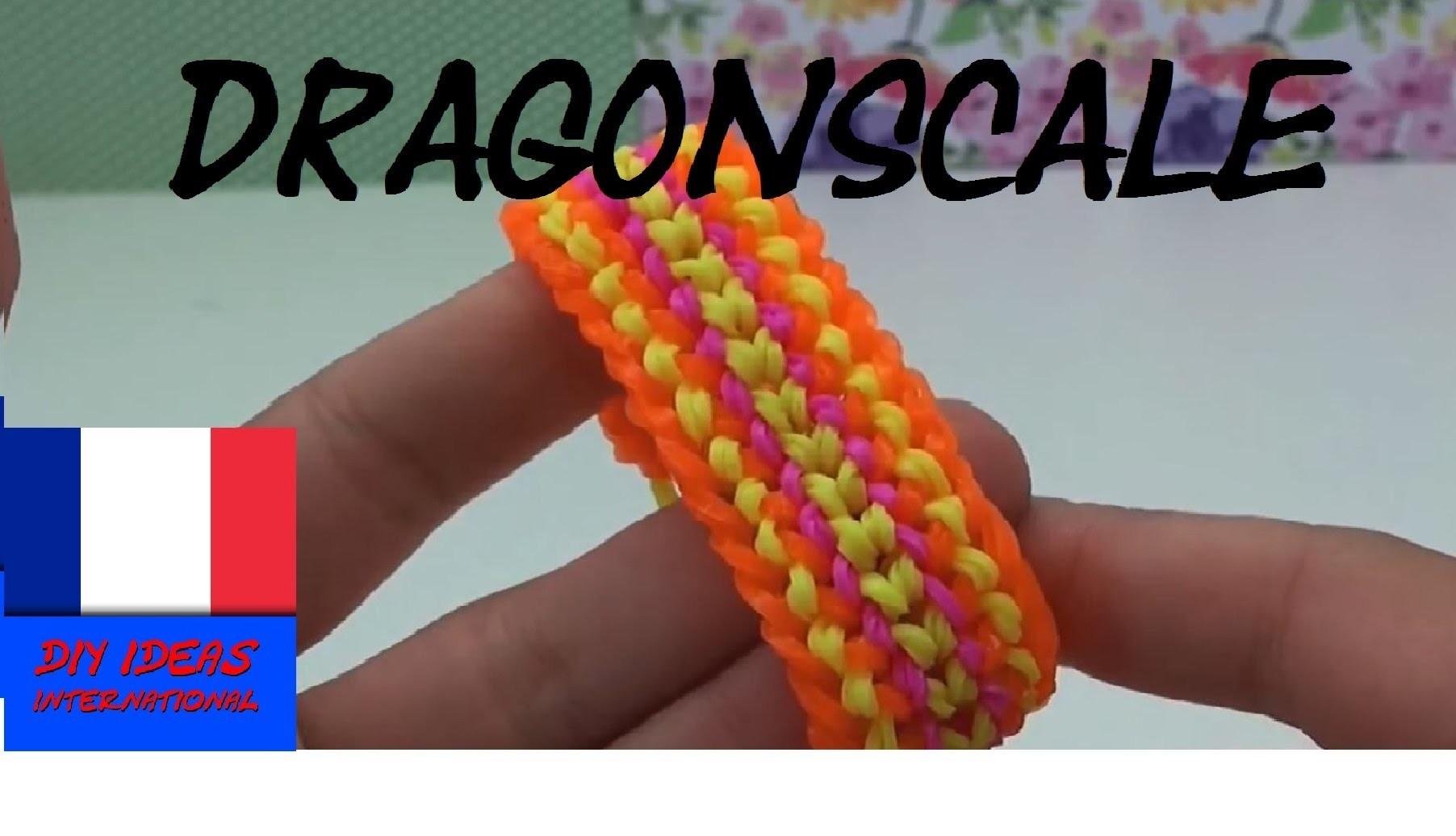 diy comment faire un bracelet en bands dragon scale sur fourchette tuto en. Black Bedroom Furniture Sets. Home Design Ideas