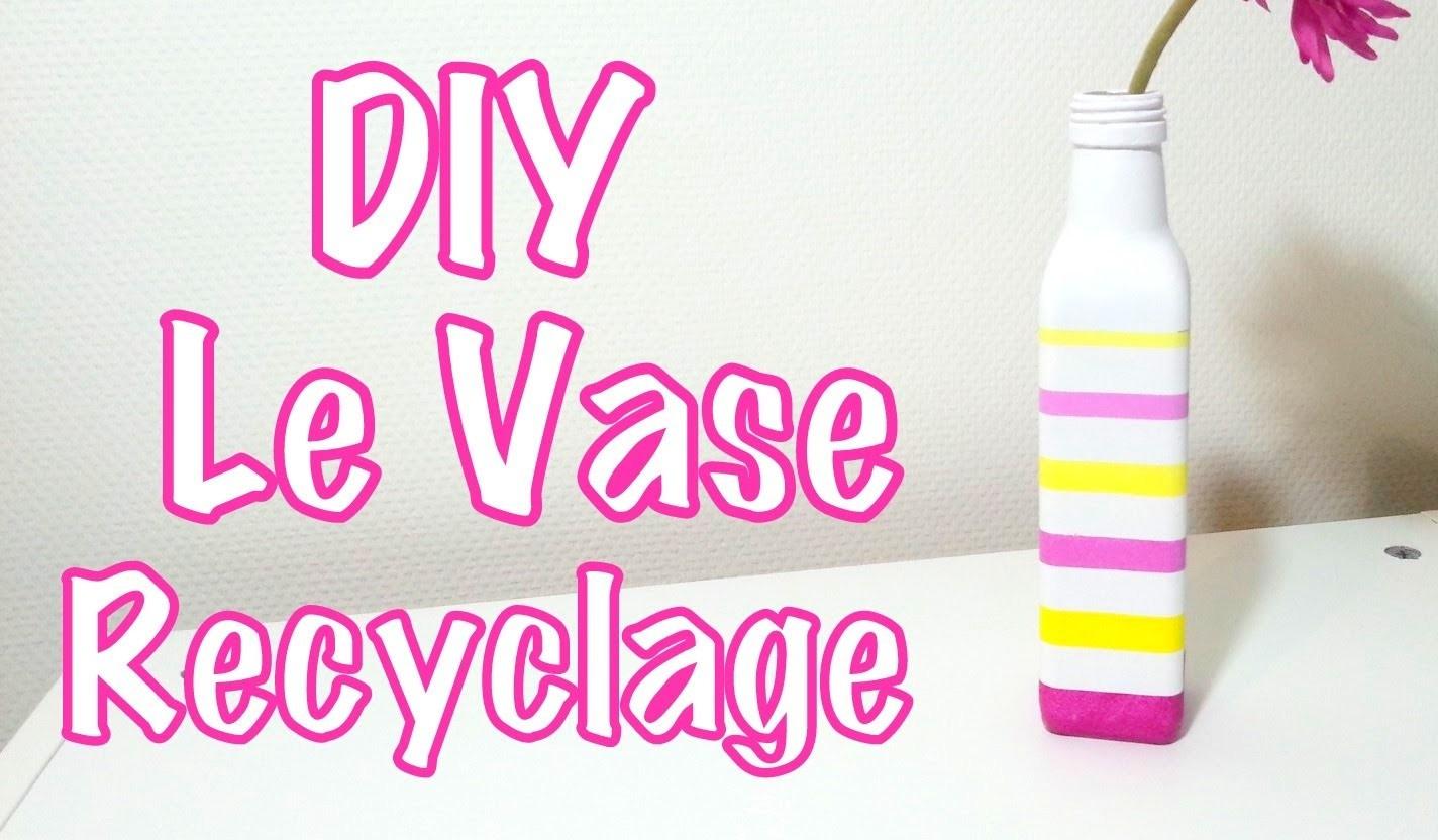 DIY Déco le vase recyclage avec bouteille en verre