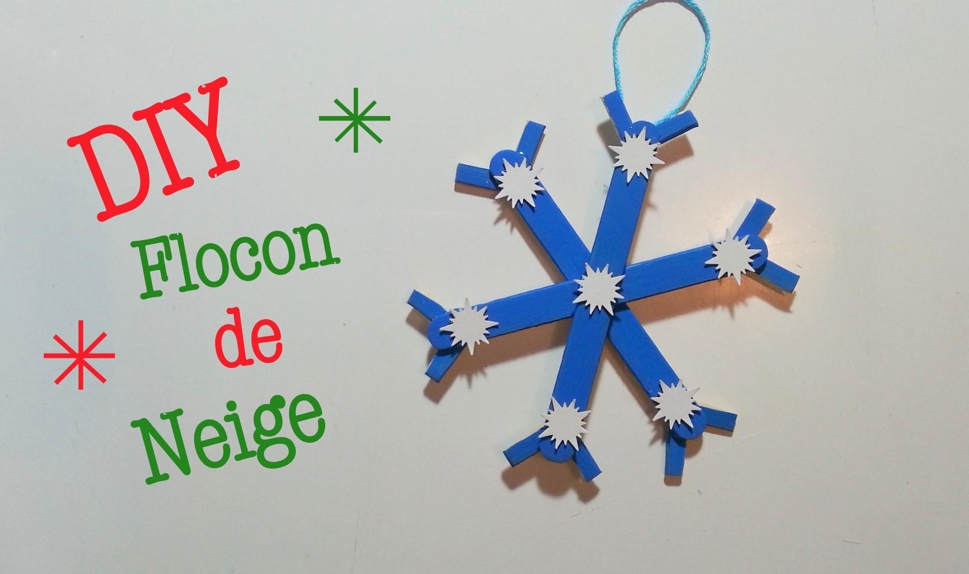 DIY Déco Noel Flocon de Neige avec bâton de glace