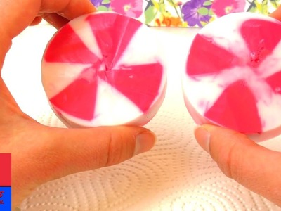 Faire soi-même un savon en forme de bonbon. DIY soin et hygiène. Pour la maison ou pour un cadeau