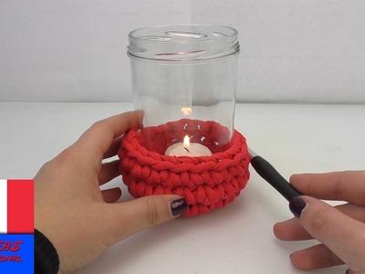 Housse de lanterne. Crochet de protection pour lanterne. DIY en laine