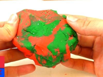 Mélange de pâte à modeler. DIY spécial Noël pour enfants. Pour figures de toutes sortes