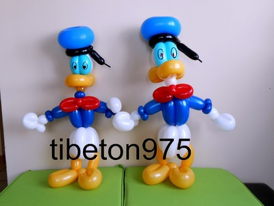 "N° 71 ""Donald duck"" balloon tutorial,ドナルドダック, Дональд Дак"