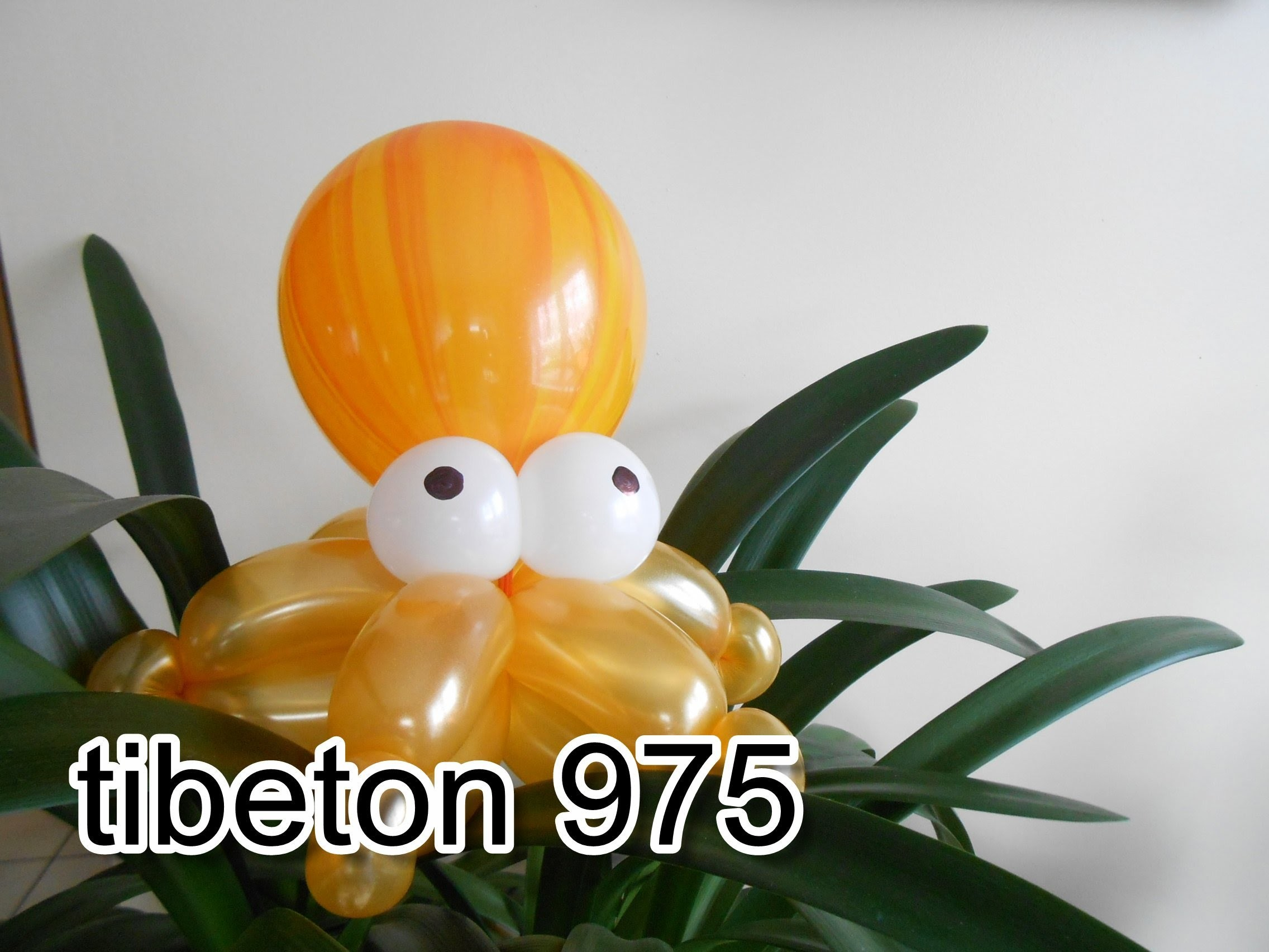 "N° 82 ""La pieuvre""  Small octopus balloon tutorial , Pulpo globo"