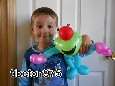 "N° 84 ""Personnage drole"" Funny character balloon tutorial, globo"
