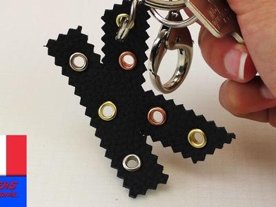 Porte-clés DIY en forme de lettre. Faire soi-même un porte-clés personnalisé