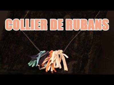 Réaliser un sautoir à pampilles avec des rubans - DIY Bijoux