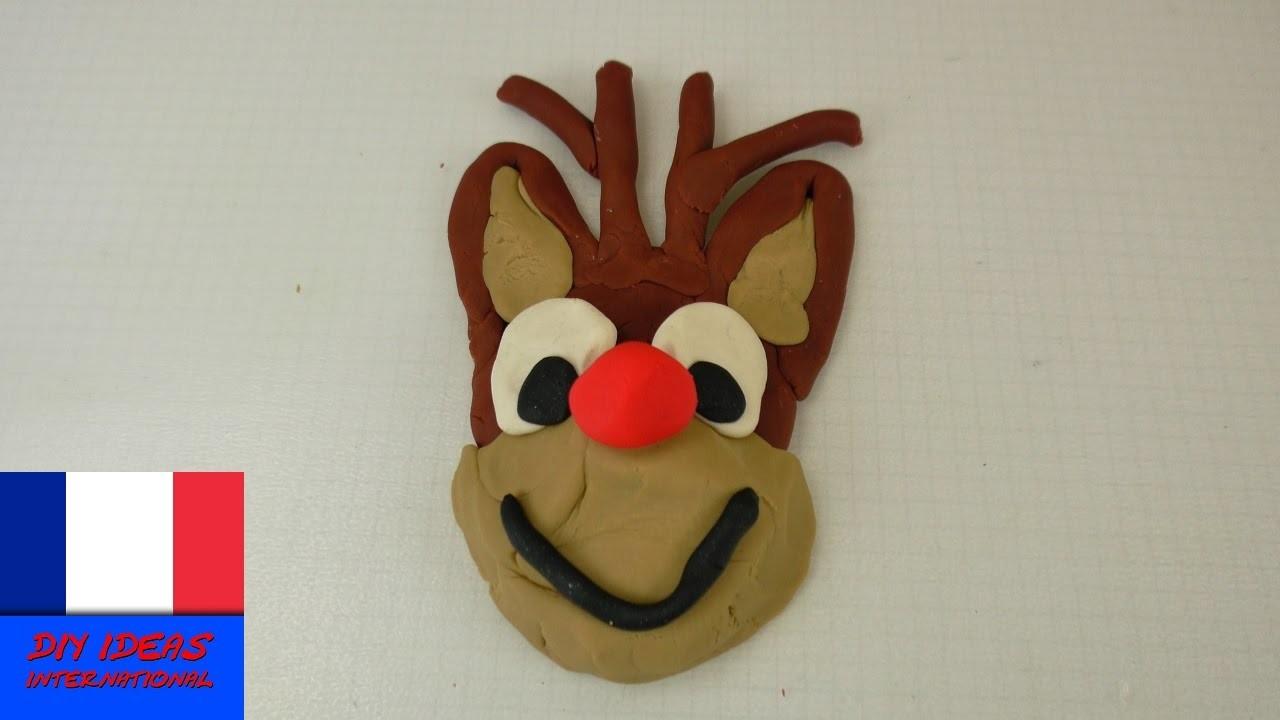 Renne en pâte à modeler. DIY Renne de Noël. Bricolage pour les enfants