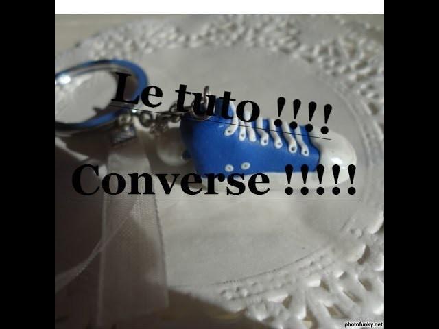 Tuto de la basket type Converse. Polymère clay tutorial : Converse !!!